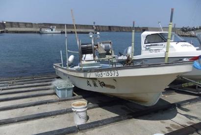 新潟県 上越市 柿崎 岩野屋旅館 釣り船