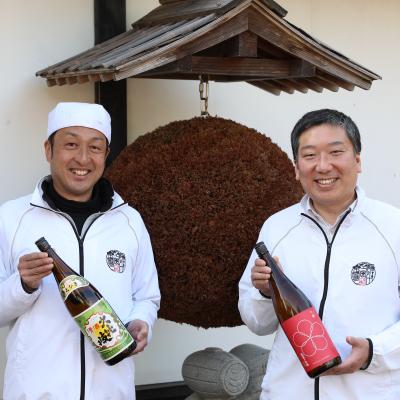 頸城酒造 代表 八木崇博(右) 杜氏 吉崎 司(左)